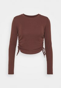 RUCHED  - Long sleeved top - choc