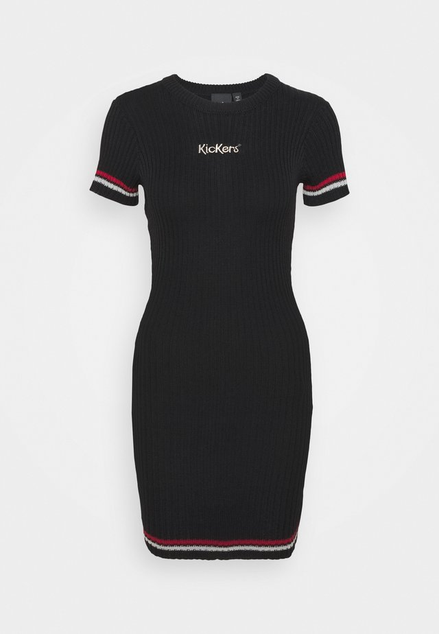 DRESS WITH CONTRAST STRIPE - Jumper dress - black