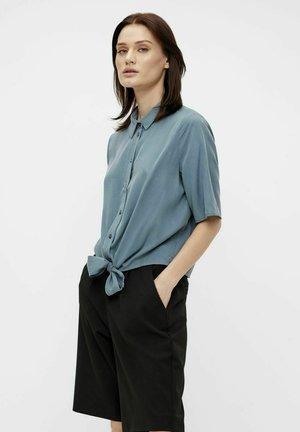 Button-down blouse - blue mirage