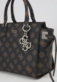 Guess - DIGITAL STATUS SATCHEL - Handbag - brown - 3