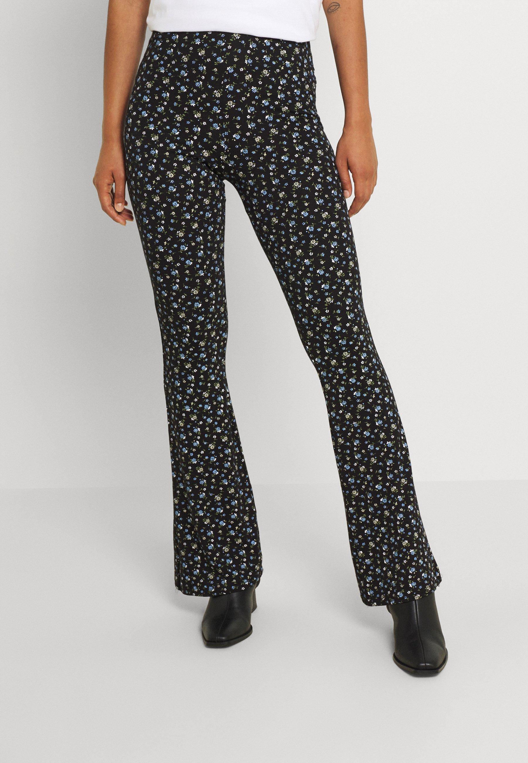 Women DITSY PRINT CROSS WAISTBAND - Trousers