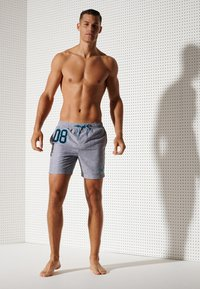Superdry - POLO SWIM - Swimming shorts - silver grey grit - 0