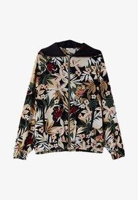 LIU JO - Zip-up sweatshirt - black with tropical print - 3