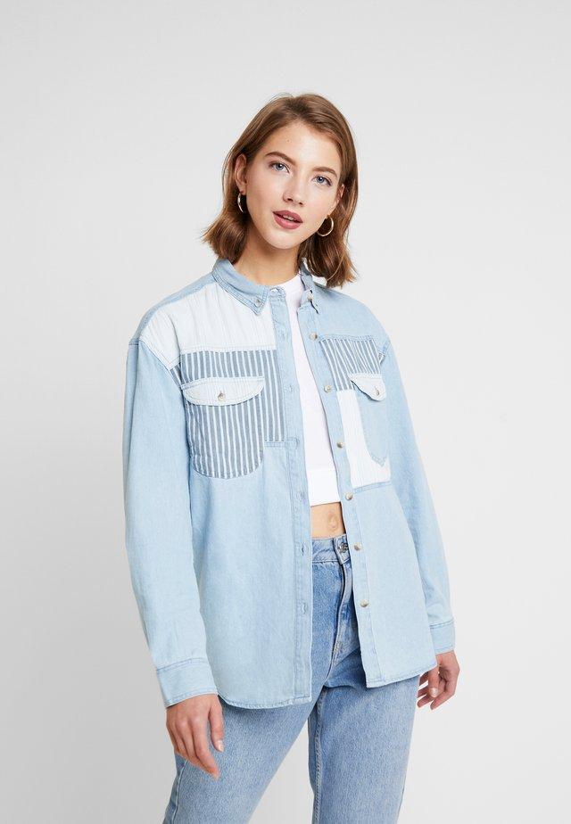 PATCH - Button-down blouse - bleach blue