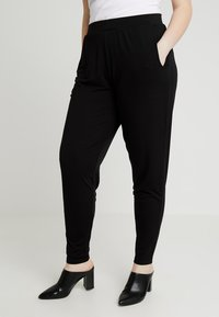 CAPSULE by Simply Be - TAPERED TROUSERS - Trousers - black - 0