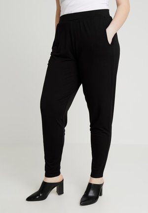 TAPERED TROUSERS - Kangashousut - black