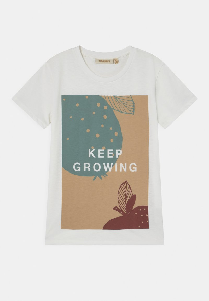 Soft Gallery - BASS  - T-shirt imprimé - snow white/grow