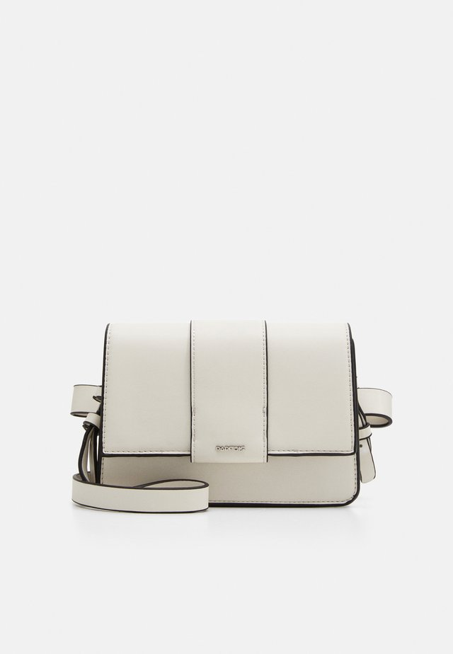CROSSBODY BAG TONGUE - Schoudertas - white