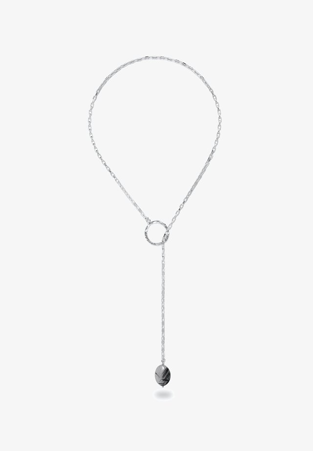 CHARA SILVER LARIAT AND TOURMALINE QUARTZ  - Collana - silver