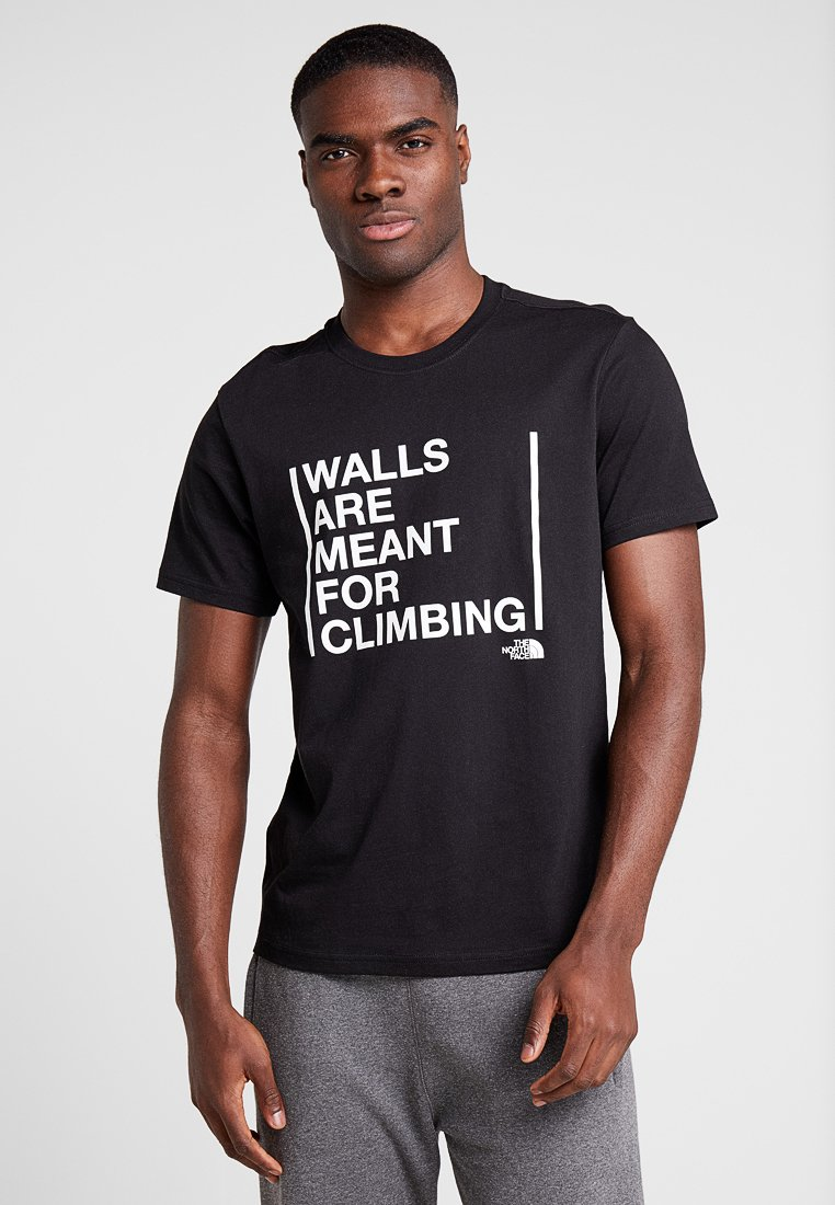 The North Face - WALLS CLIMB TEE - Triko s potiskem - black