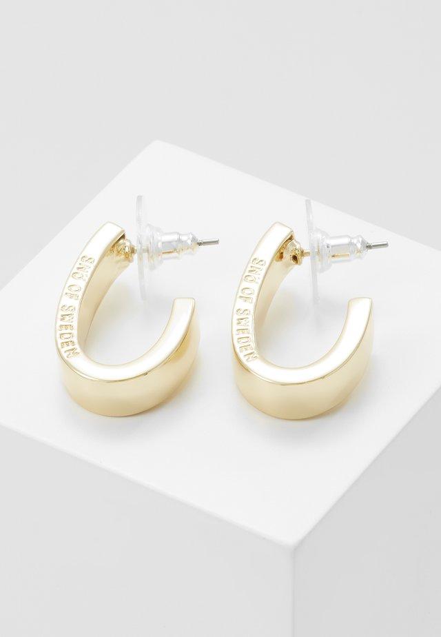 BRIDGET WIDE OVAL EAR - Orecchini - gold-coloured