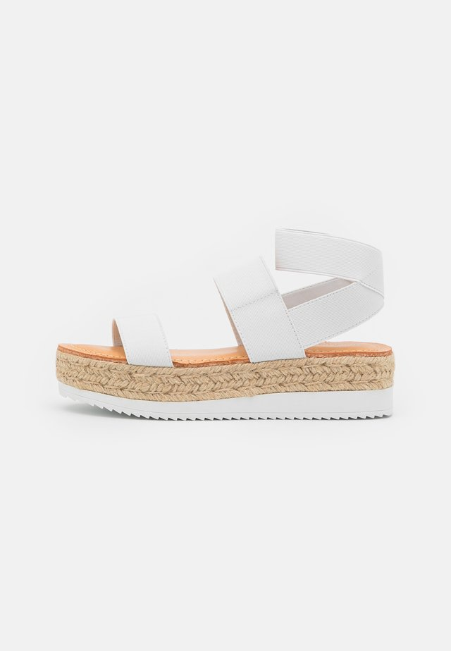 BREE - Korkeakorkoiset sandaalit - white