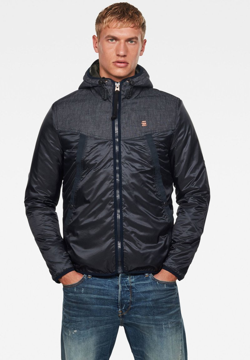 G-Star - SETCALE PADDED HOODED - Light jacket - mazarine blue