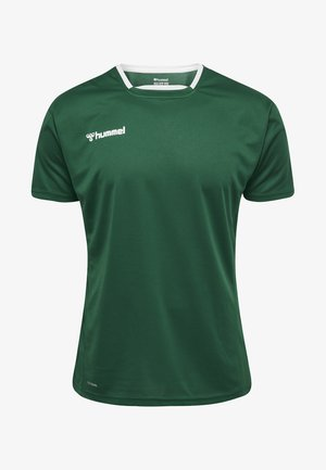 HMLAUTHENTIC - Print T-shirt - evergreen