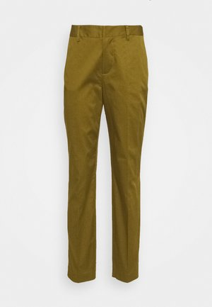 BELL' SLIM FIT IN MERCERIZED QUALITY - Chino kalhoty - army