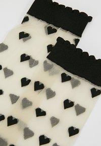 Becksöndergaard - DAGMAR HEARTS SOCK 2 PACK - Ponožky - black - 2