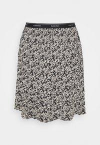 Calvin Klein - SHORT MICRO PLEAT SKIRT - Mini skirt - black/white - 1