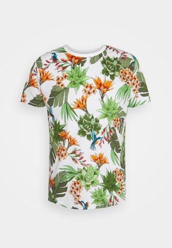 HUMMING GARDEN  - T-shirt med print - eggshell