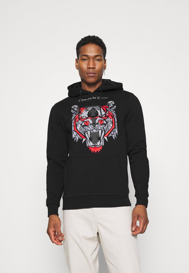 DEMON HOODIE - Luvtröja - black/red