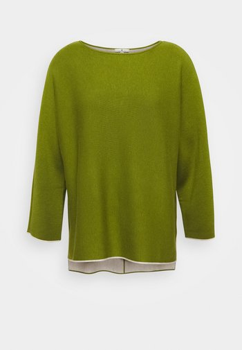 BATWING DOUBLE FACE - Jumper - wood green