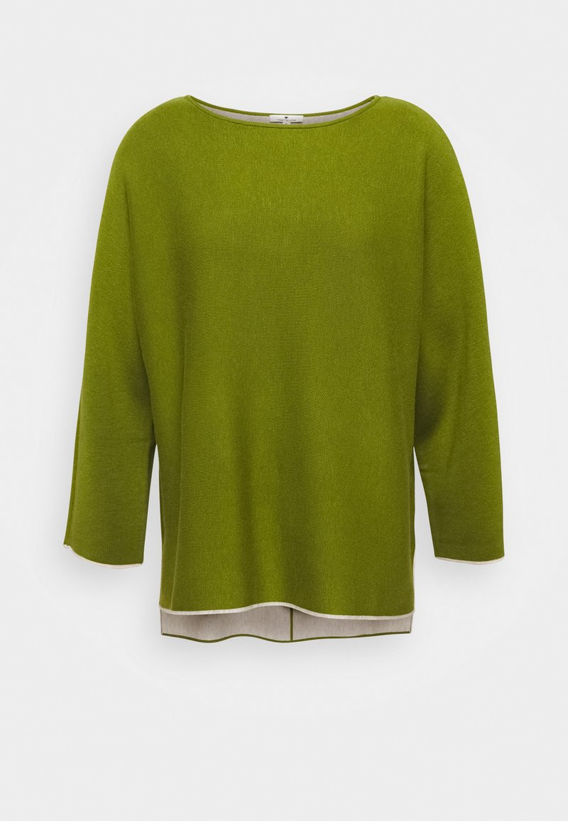 TOM TAILOR - BATWING DOUBLE FACE - Jumper - wood green