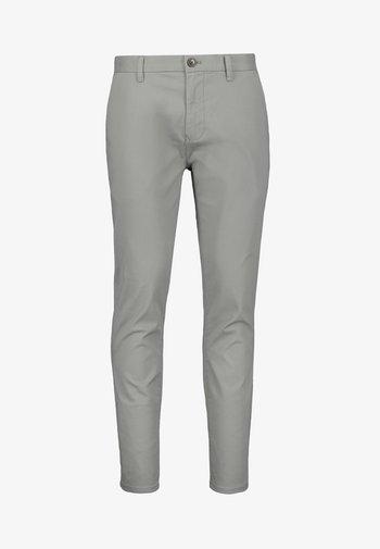 BURNT ORANGE SKINNY FIT STRETCH CHINOS - Chino kalhoty - grey