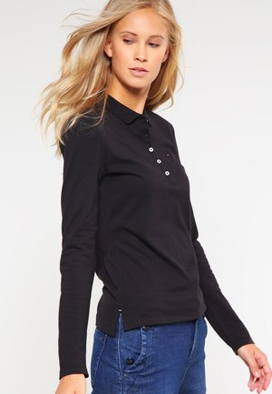 LONG SLEEVE SLIM - Polo - black