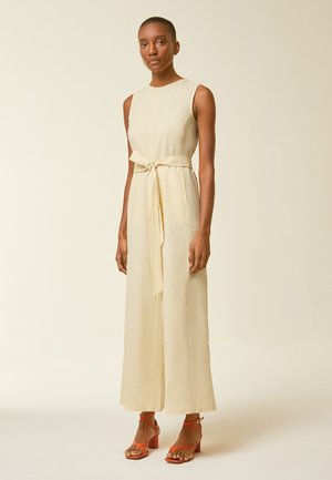 SUPER FLARED CROPPED - Jumpsuit - lemon cream
