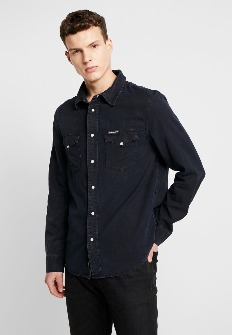 Calvin Klein Jeans - MODERN WESTERN SHIRT - Camisa - blue black