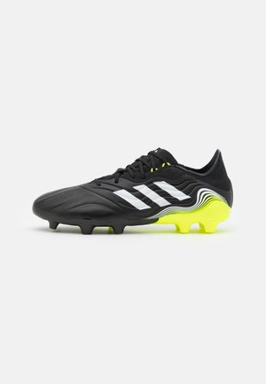 COPA SENSE.2 FG - Moulded stud football boots - core black/footwear white/solar yellow