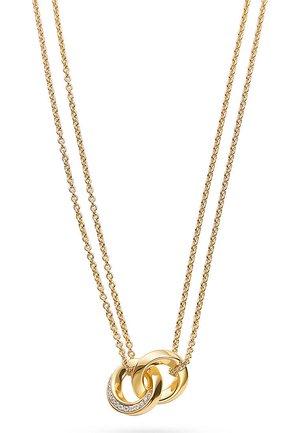 JETTE SILVER DAMEN-KETTE 925ER SILBER 26 ZIRKONIA - Necklace - gold