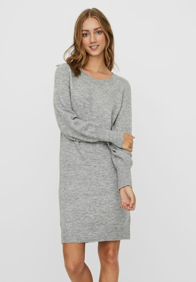 VMSIMONE O-NECK - Jumper dress - light grey melange