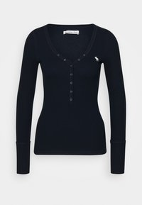 Abercrombie & Fitch - Long sleeved top - navy - 0