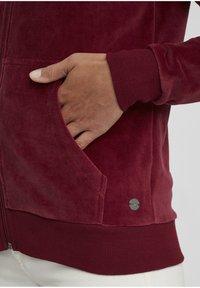 Oxmo - Zip-up hoodie - wine red - 4