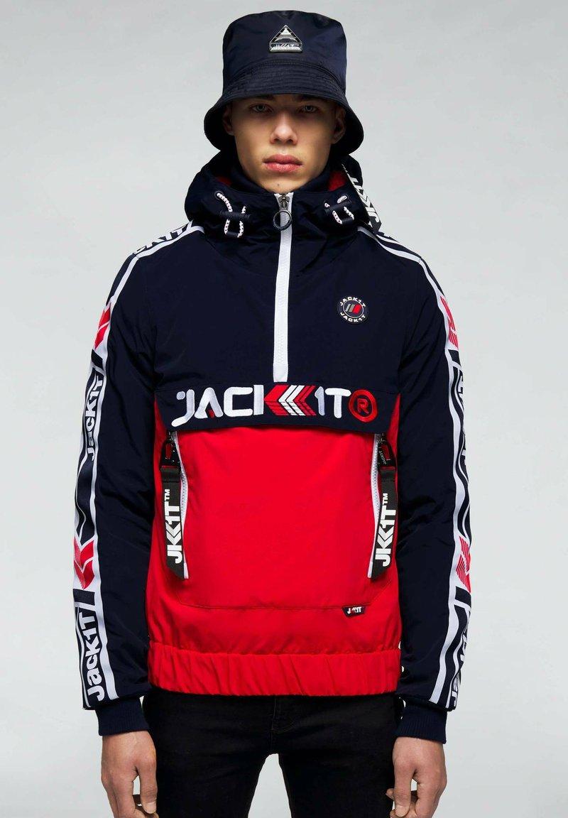 JACK1T - Summer jacket - navy/white/red