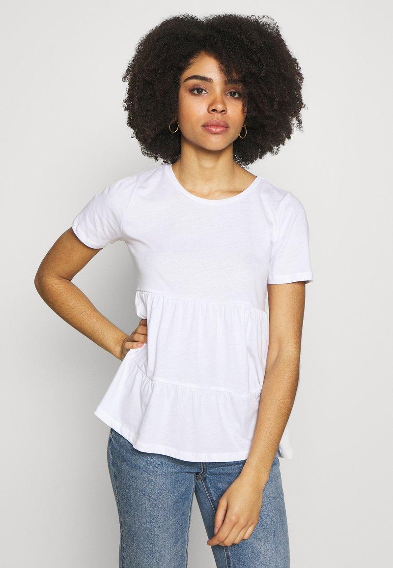 ONLY Petite - ONLAYCA PEPLUM - Print T-shirt - white