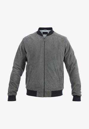 WILLIAM - Leather jacket - grey