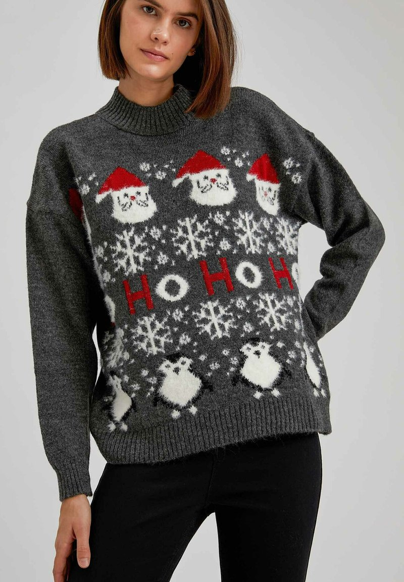 DeFacto - CHRISTMAS JUMPER - Jumper - anthracite