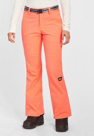 STAR SLIM PANTS - Snow pants - fiery coral