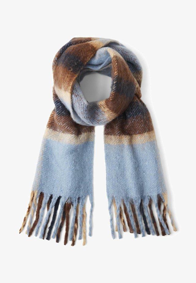 IM KAROMUSTER - Sjaal - stone blue check