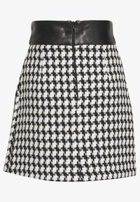 River Island - Minijupe - black/white - 1