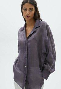 Massimo Dutti - Skjortebluser - dark purple - 0