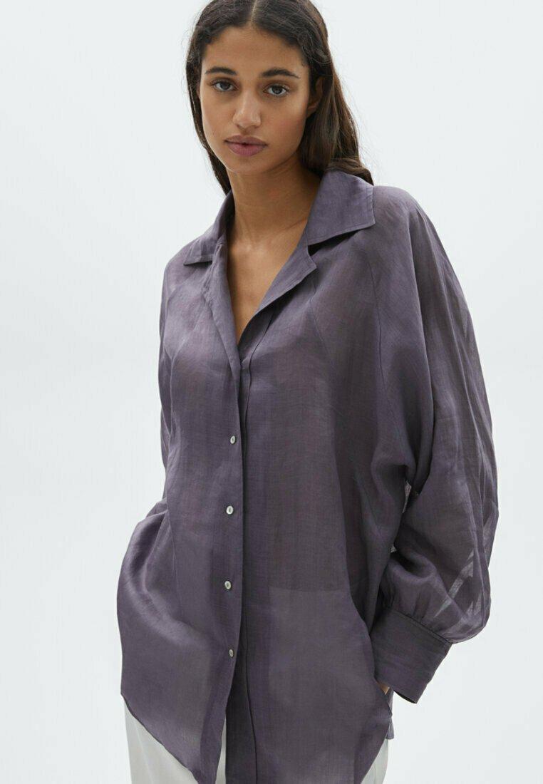 Massimo Dutti - Skjortebluser - dark purple