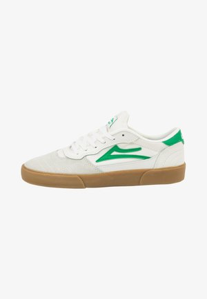 Sneakers laag - white/grass suede