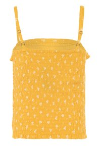 Abercrombie & Fitch - SMOCKED MATCH - Top - yellow - 1