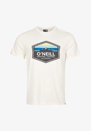 MOUNTAIN TRADEMARK - Print T-shirt - egret