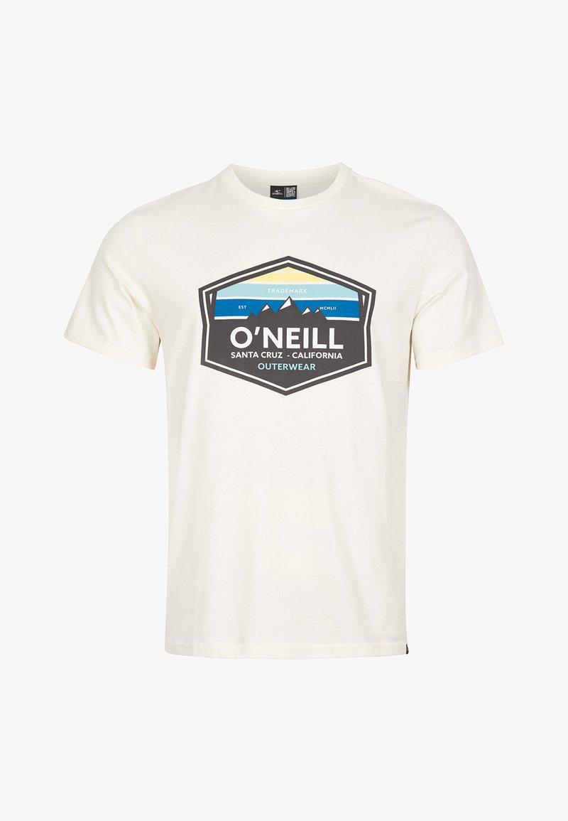 O'Neill - MOUNTAIN TRADEMARK - Print T-shirt - egret