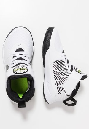 TEAM HUSTLE 9 UNISEX  - Basketbalové boty - white/black/volt