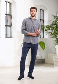 TOM TAILOR - STRUCTURE - Chinos - blue two tone - 5