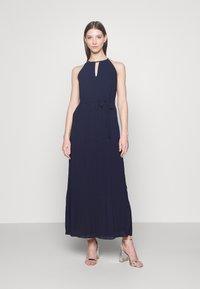 Vila - VIKATELYN HALTERNECK DRESS - Suknia balowa - navy blazer - 0